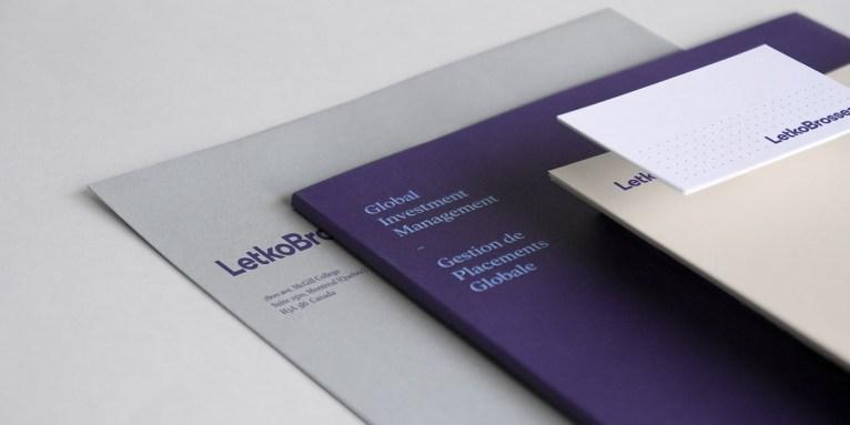Айдентика портфельного инвестиционного фонда Letko Brosseau