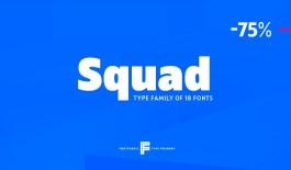 Новый шрифт с кириллицей Squad