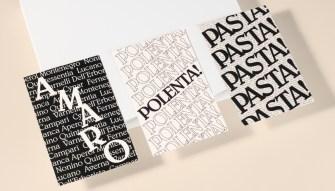Типографический стиль итальянского ресторана Di Beppe
