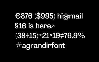 Agrandir — несовершенный гротеск с латиницей