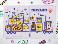 Обложки журнала о графическом дизайне novum