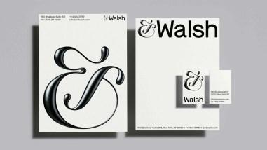 Айдентика креативного агентства &Walsh