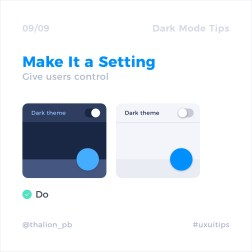 Базовые советы по дизайну тёмной темы