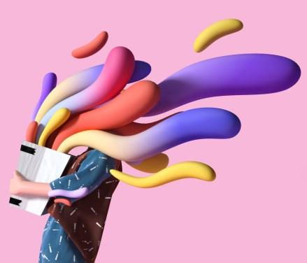 Красочные трёхмерные персонажи китайского 3D-иллюстратора под псевдонимом UV-Zhu
