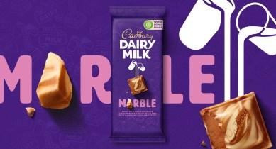 Шоколадный бренд Cadbury классно обновил логотип, типографику и обёртки плиток