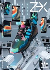Рекламная кампания коллекции кроссовок Adidas ZX Sneakers для азиатского подразделения корпорации