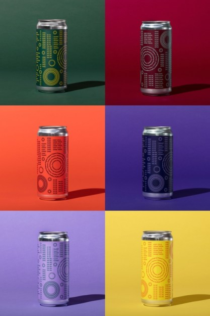 Айдентика пивоварни в Окленде Original Pattern Brewing