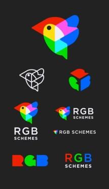 Уже старенький, но очень клёвый трёхмерный логотип RGB Schemes — стартапа в области виртуальной реальности