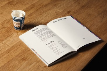 Интересный ход в презентации дизайна нью-йоркского журнала Quoted