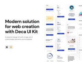 Бесплатный набор интерфейсной графики Deca