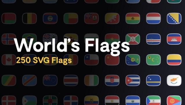 250 векторных флагов стран мира в Figma