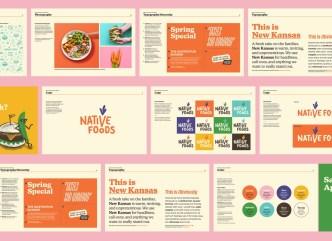 Новая айдентика сети веганских ресторанов в США Native Foods