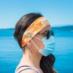 Painted Greenling (Oxylebius pictus) Headband with Face Mask Buttons