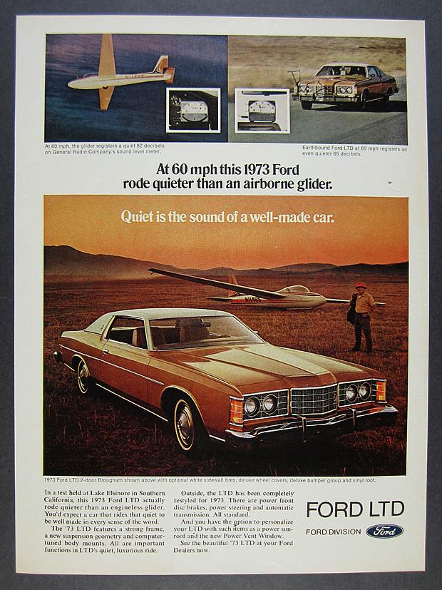 73 Ford Ltd : 2-door, Brougham, Color, Photo, Vintage, Print