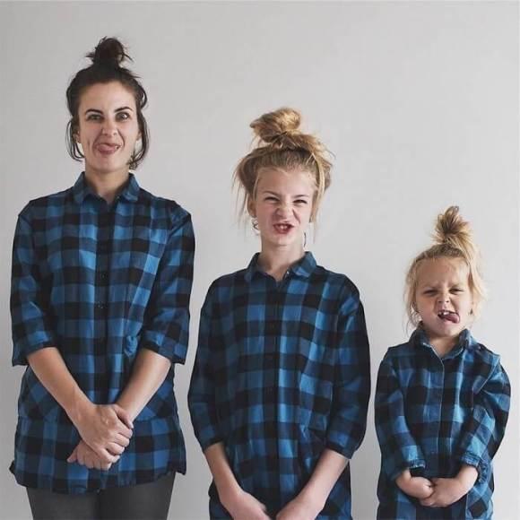 Mãe e filhas em fotos divertidas (18)