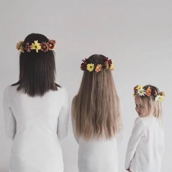 Mãe e filhas em fotos divertidas (2)