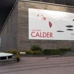 wideshot view of NGV with Calder poster