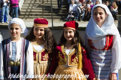 Young Greek dancers