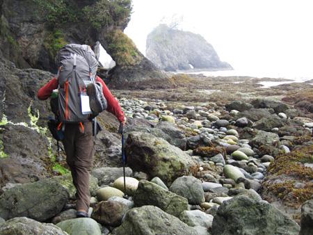 Hiking south along the coast