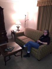 Erin relaxing in the junior suite