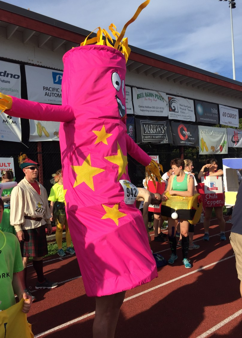 Just one of the wacky costumed Starlight Runners!