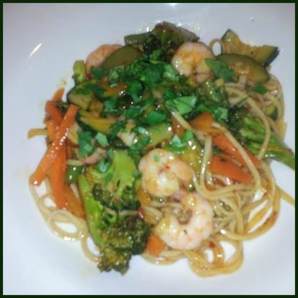 Quick and easy, healthy veg and noodles