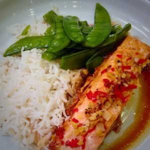 Impress your guests with this 'Honey and Ginger Thai Style Scottish Salmon