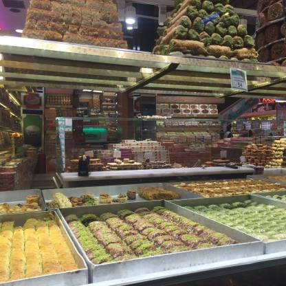 One of the many sweet shops we saw