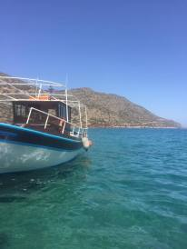 One of the boats to Spinalonga