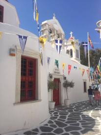 One of the small churches scattered throughout the small streets of Mykonos