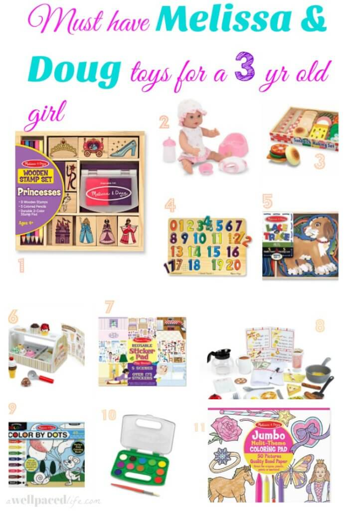 Must have melissa and doug toys for a 3 yr old