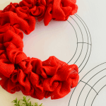 How To Make A Diy Red Burlap Christmas Wreath A Well Purposed Woman