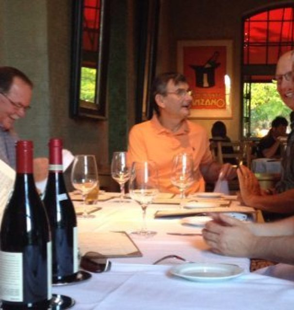 friends gathering in Napa Valley