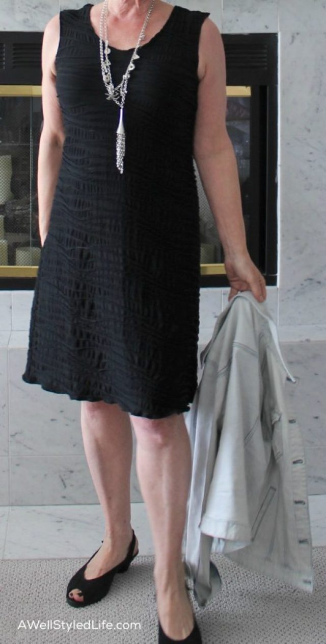 Having your dress or skirt hemmed to where your leg narrows, makes you look taller and slims your shape.
