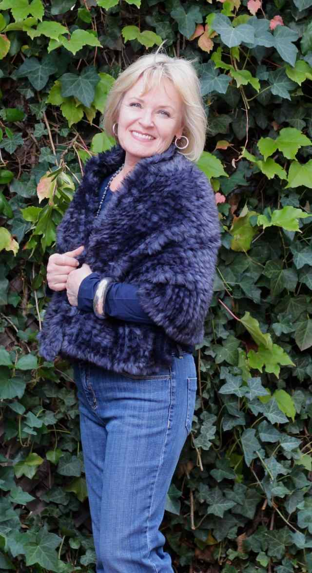 Chico's Faux Fur and denim
