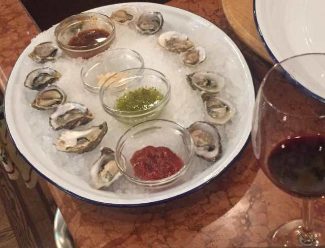 oysters as an appetizer