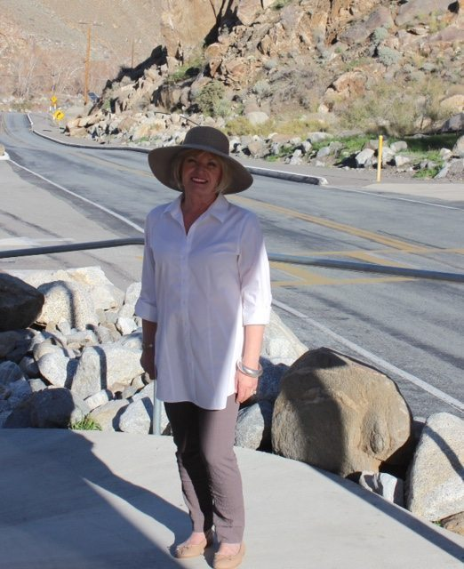 taking the tramway in Palm Springs