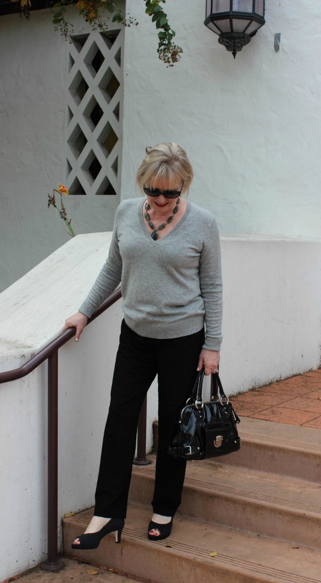 Jennifer Connolly of A Well Styled Life wearing Adrian Allen shoes