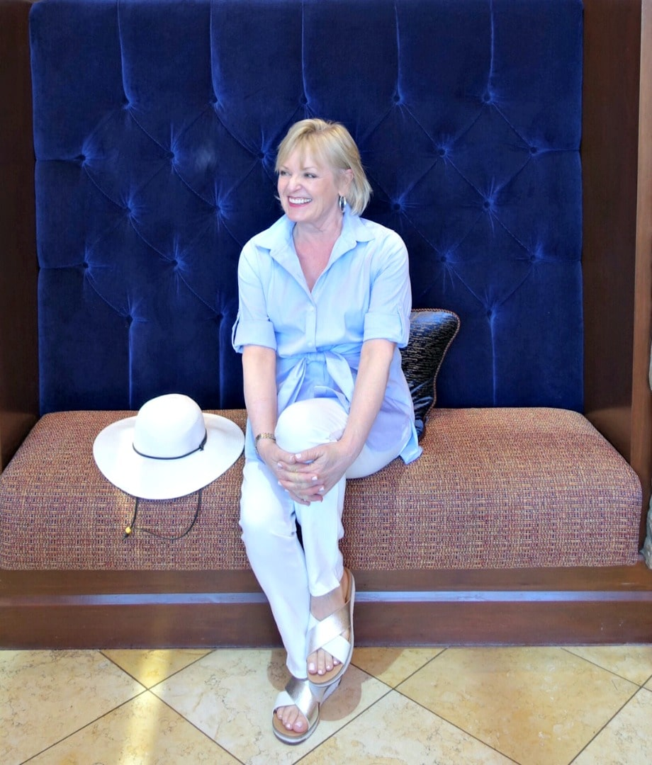 Jennifer Connolly of A Well Styled Life wearing UGGS from Macy's