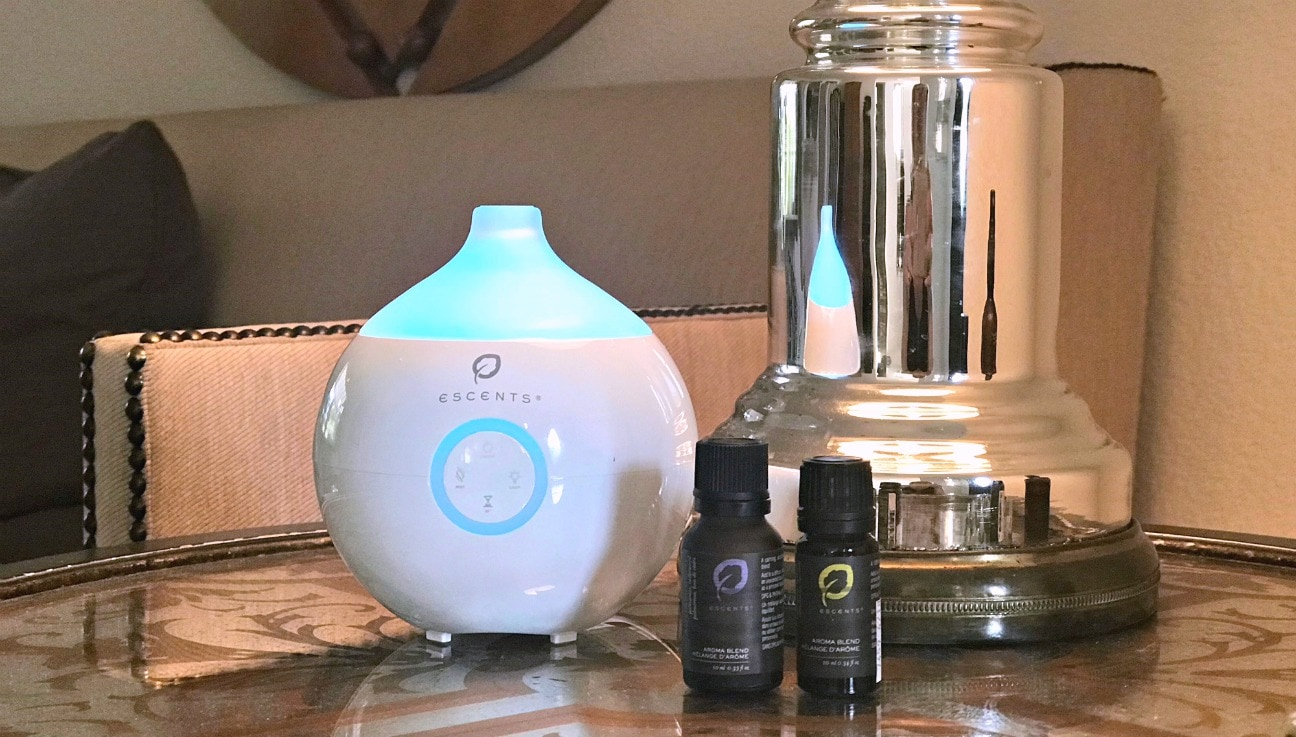 Escents diffusser and essential oils on A Well Styled Life