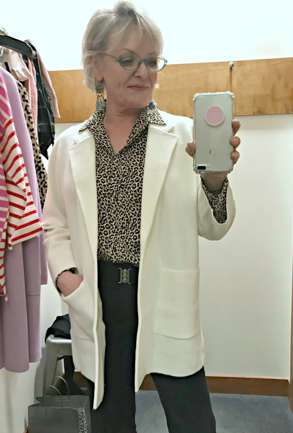 Dressing Room Diaries: Leopard and Sweater Blazers