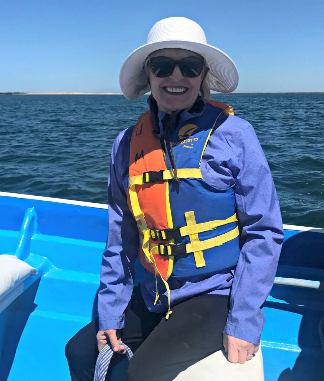 Jennifer of A Well Styled Life whale watching in Baja Mexico