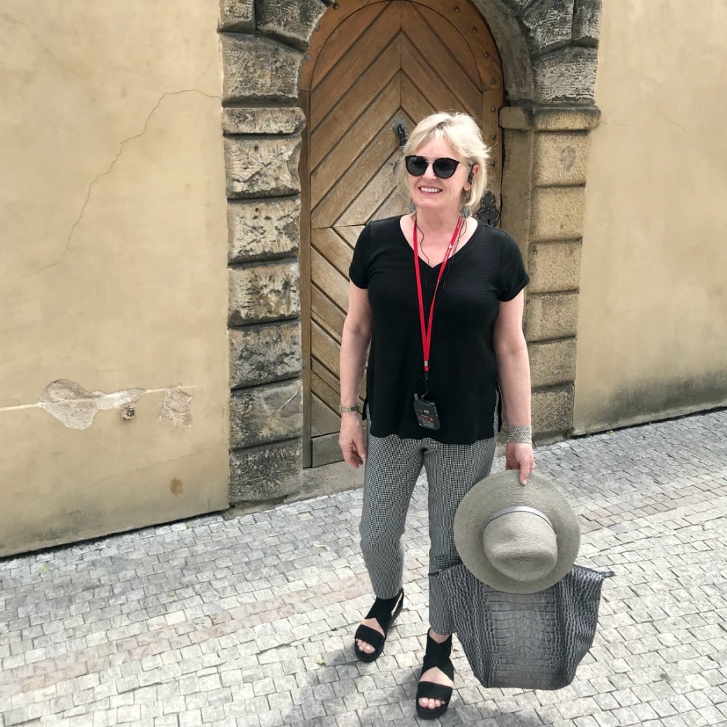 Jennifer Connolly of A Well Styled Life touring Prague Castle with Viking Cruises