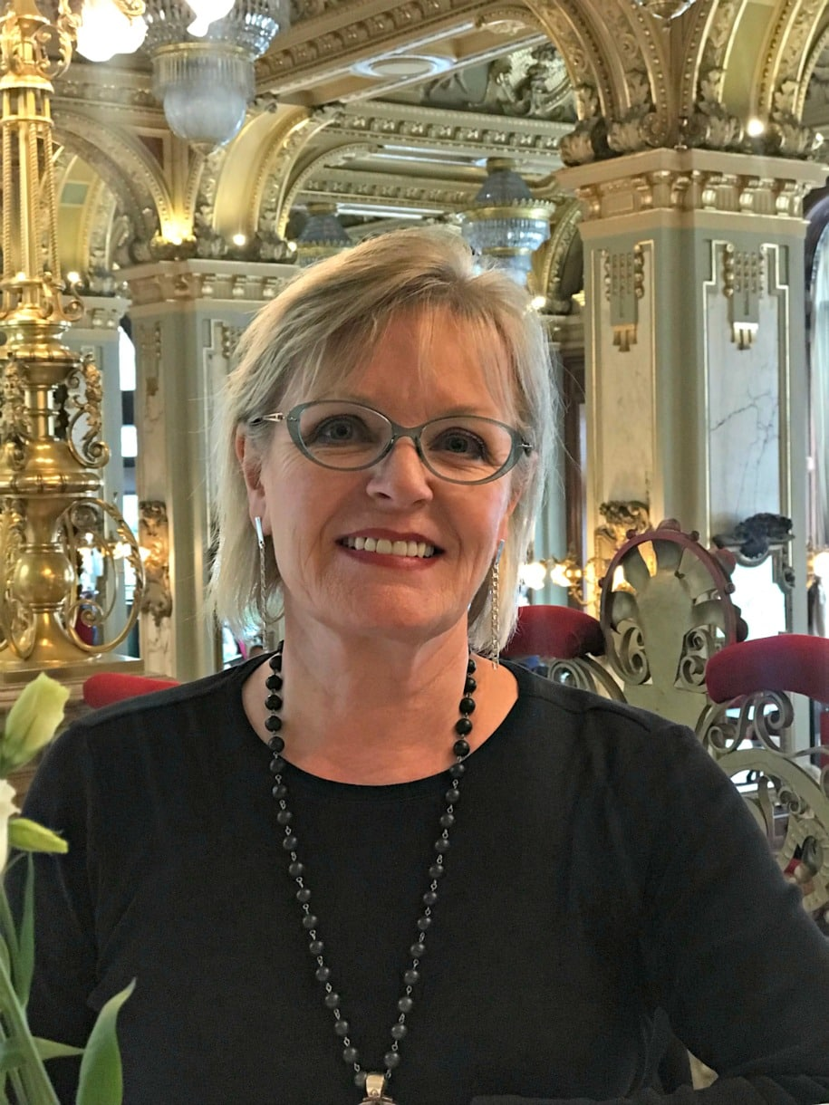 Jennifer Connolly of A Well Styled Life at the New York Cafe in Budapest