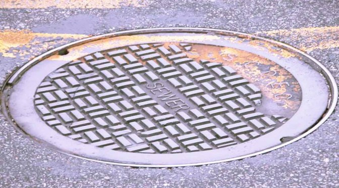 manhole cover in space
