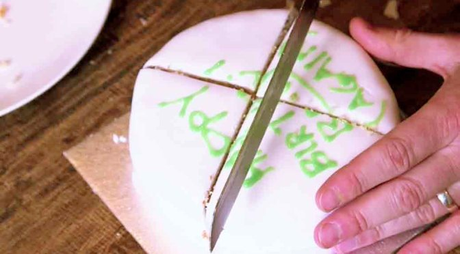 Cutting a Round Cake on Scientific Principles