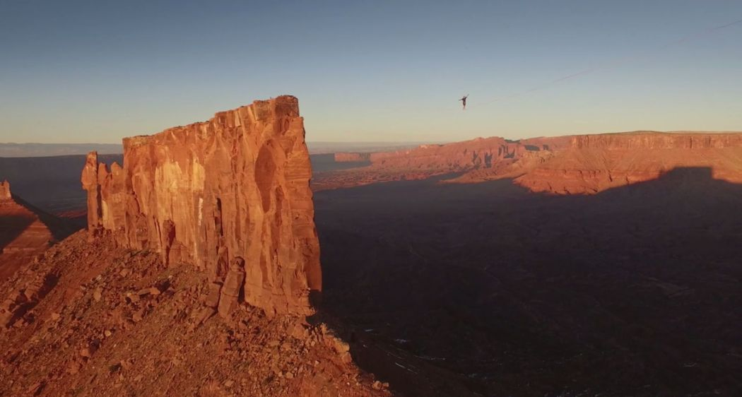 World Record Slackline in Utah Desert
