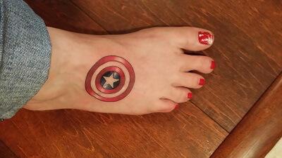 Captain Marvel Tattoo Small