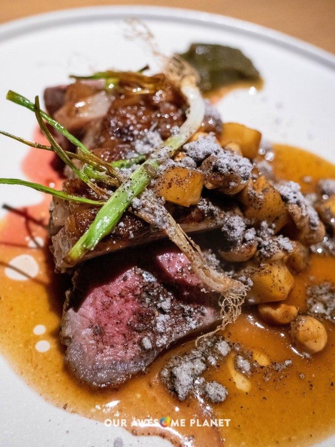 Lamb, parsnip, hazelnut
