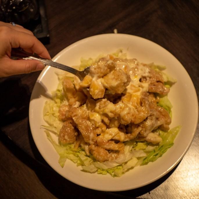 Hot Prawn Chicken Salad